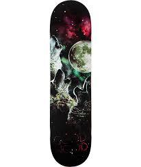 goodwood wolf moon 7 75 skateboard deck skateboard decks wolf