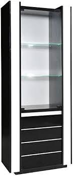 esszimmerschrank vitrine 72 cm breit optik schwarz