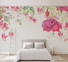 großhandel 3d moderne handgemalte blume tapete kunst wandbild wohnzimmer sofa hintergrund wandbild schlafzimmer tapete rosa dekor vvsong 14 47