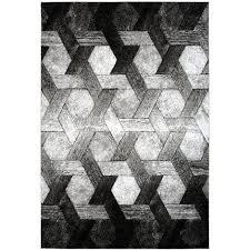 3d teppich modern design teppiche wohnzimmer schwarz weiß grau 80cm x 150cm