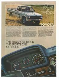 1980 Advertisement Toyota Truck SR5 Sport 80s Pickup Pick Up