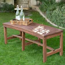 belham living richmond curved back 4 ft outdoor wood bench benches