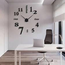 wand uhr modern design wohnzimmer wanduhr diy ziffern