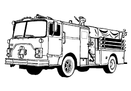 Fire Truck Clipart Black And White | Jkfloodrelief.org