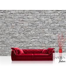 vlies fototapete no 171 steinwand tapete steinwand steinoptik steine wand mauer steintapete grau