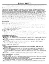 Sample Resume Manufacturing Technician Exles Near Sumter