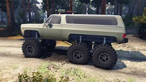 100 Blazer Truck Chevrolet K5 1975 Equipped 6x6 Army Green For Spin Tires