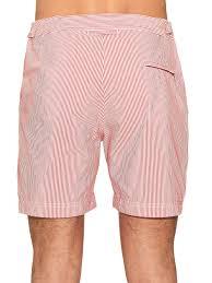 orlebar brown bulldog striped swim shorts in white for men lyst