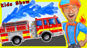 100 Toddler Fire Truck Videos For Children Nursery Rhymes Playlist By Blippi