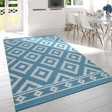 skandi teppich wohnzimmer rauten design