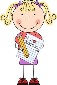 Displaying students writing clipart