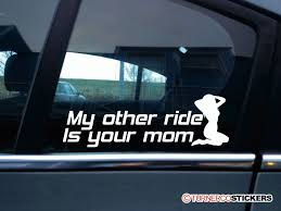 My Other Ride Is Your Mom Funny Car Sticker Decal Show Your Back Window Stickers Page 4 Mallard Duck Hunting Window Decal Hunter And Dog Duck Attn Truck Ownstickers In The Rear Or Not Mtbrcom The Sign Shop Vehicle Livery Makers Graphics American Flag Back Murica Stickit Stickers In God We Trust Rear Graphic For Amazoncom Vuscapes Cowboy Up 3 Seattle Seahawks Sticker Car Suv Hotmeini 2x Sexy Women Silhouette Mud Flap Vinyl Off Your 50 Ford F150 Forum Wolf Wolves Perforated Police Officer Support Thin Blue Line