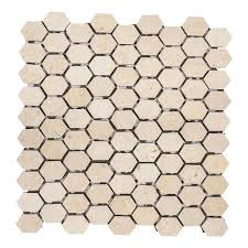 Jeffrey Court Mosaic Tile by Jeffrey Court Geohex 8 5 8 In X 10 In X 8 Mm Ceramic Mosaic Tile