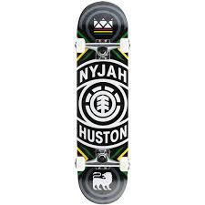 element skateboards nyjah huston crossed complete skateboard