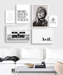 fashion gallery wall printable set of 6 от