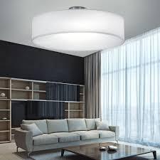 deckenle beleuchtung rund 3x e27 fassung leuchte nickel matt weiß wohnzimmer trio 603900301