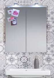 badezimmer spiegelschrank setone in hochglanz weiß badschrank 2 türig 65 x 80 cm