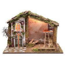 Nativity Scene Setting House With Red Roof And | Online Sales On ... Was Jesus Really Born In A Stable Nativity Scene Pictures Hut With Ladder And Barn Online Sales On Holyartcom Scenes Nativity Sets Manger Display Yonderstar Handmade Wooden Opas Scene Christmas Set Outdoor Manger Family Wooden Setting House Red Roof Trough 2235x18 Cm For Vintage Wood Creche Religious Amazoncom Fontani 5 54628 Stable Fountain 28x42x18cm Fireplace 350x24 Bungalow Like Neapolitan 237x29cm