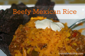 Easy Recipes Beefy Mexican Rice A Family Recipe