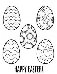 Easter Egg Coloring Pages For Kids 6 Funnycrafts