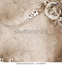 Vintage Textured Background With A Bouquet Of Flowers Lace And Pearls