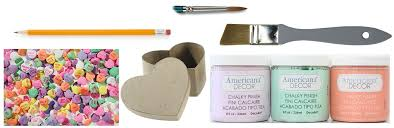 Americana Decor Chalky Finish Paint Colors by Diy Conversation Heart Treat Boxes A Little Craft In Your Day