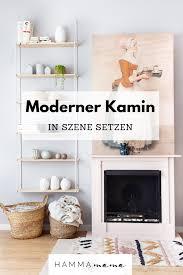 modernen kamin in szene setzen eine skandinavische
