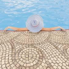 bath weichschaummatte steine beige breite 80cm anro