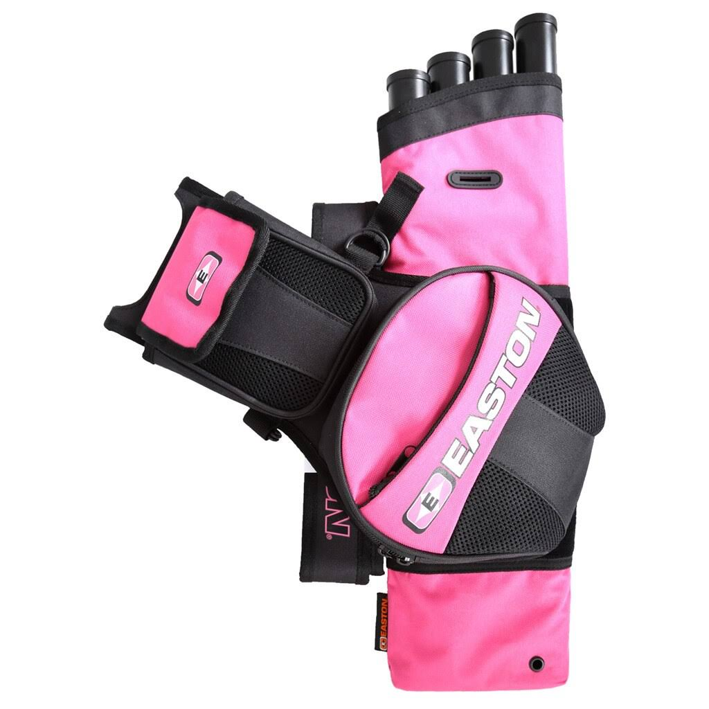 Easton Flipside 4 Tube Hip Quiver - Pink, Left and Right Hand