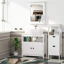 homfa 50x60cm wandspiegel badspiegel mit ablage 50x12x60cm