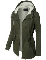 womens sherpa lined anorak parka jacket with hoodie parka