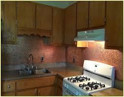 Copper Tiles For Backsplash by Faux Copper Tile Backsplash Home Design Ideas