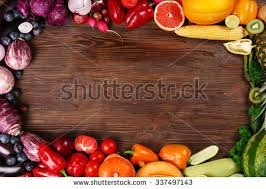 Food Frame Constructed Red Fruits Ve ables Stock