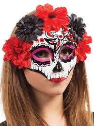 Scary Halloween Half Masks by Halloween Day Of The Dead Masks Partynutters Uk