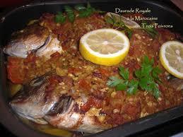 cuisiner la dorade daurade royale aux trois poivrons à la marocaine épices et