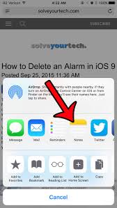 How to Save a Web Page to Notes in iOS 9 Solve Your Tech