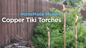Citronella Oil Lamps Diy by Diy Copper Tiki Torches Anchored With Fast Setting Concrete Youtube