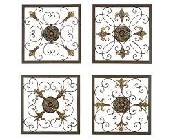 Tuscan Grilles Metal Wall Panels Set Of 4