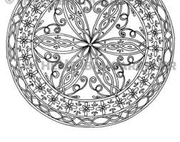COLORING PAGE Instant Download Mandala 23 Hand Drawn Single Coloring Sheet