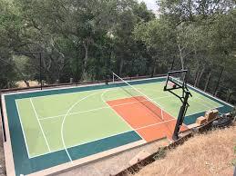 indoor and outdoor athletic flooring sport court construction in
