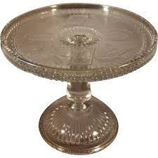 Vintage Adams Eapg Glass Horseshoe And Anchor Cake Stand From Antique Large Size