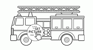 Beautiful Fire Truck Coloring Page For Kids, Transportation Coloring ...