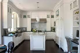 White Kitchen Dark Floors Inspiration Decoration For Interior Design Styles List 16
