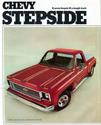 100 1974 Chevrolet Truck Stepside Pickup Advertising Road Track