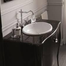 klassische badezimmermöbel elegante schwarze olympia möbel