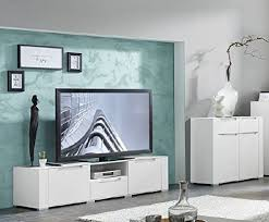 wohnwand wohnzimmer set dinaro 2 tlg kleine kommode tv lowboard tv tisch weiß