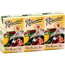vin blanc sec cuisine vin blanc vin de table sec ribaudour ribaudour le pack de 3