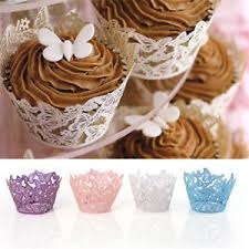 Image Is Loading 25 100 Lace Laser Cut Cupcake Wrapper Liner