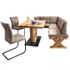 niehoff eckbankgruppe mit tisch und 2 schwingstühlen komplette essgruppe ideal für ihr esszimmer