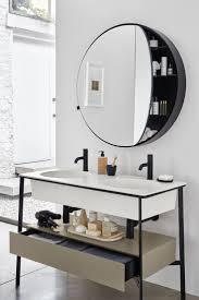 Vanity Table With Lights Around Mirror by Best 25 Round Bathroom Mirror Ideas On Pinterest Minimal